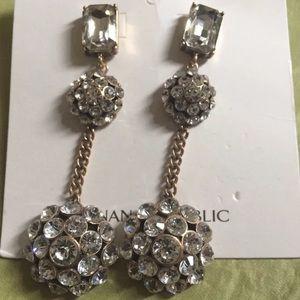 Banana Republic crystal dome earrings